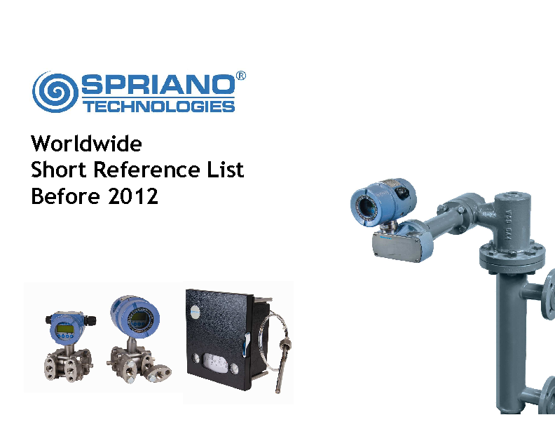 SPRIANO REFERENCES_UP TO 2012